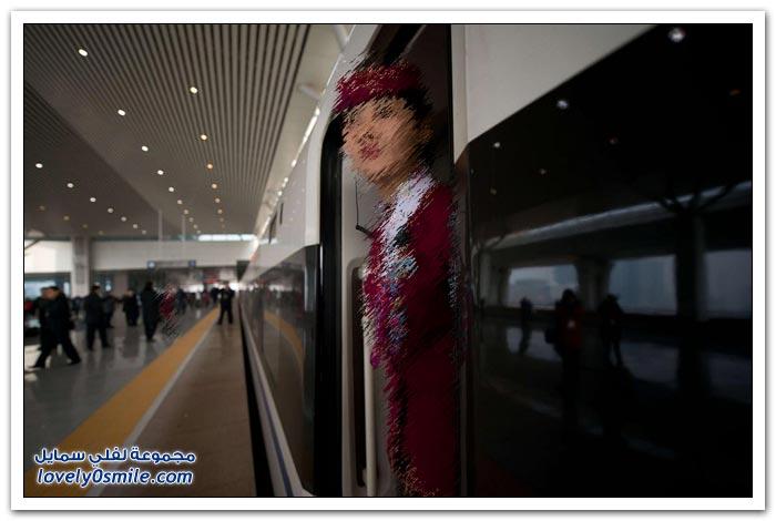 الصين تطلق أطول خط للقطار السريع بالعالم