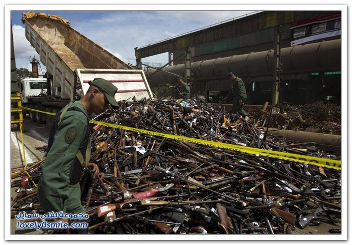 مصادرة الأسلحة في فنزويلا