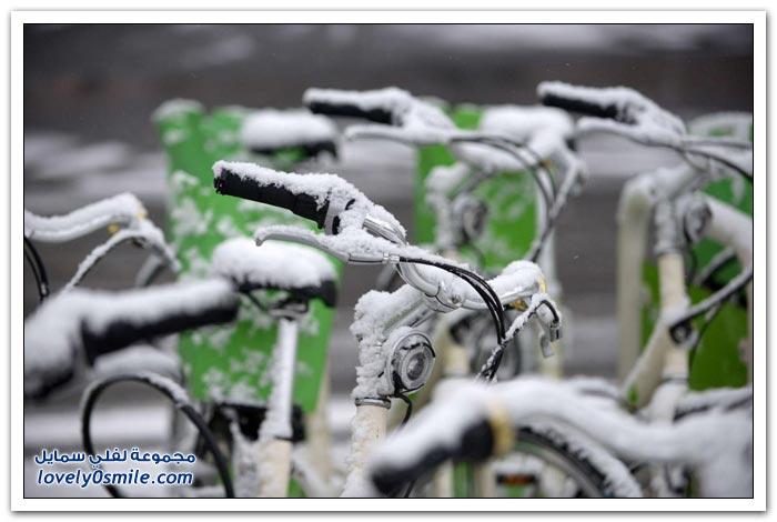 الأجواء الأوروبية في الشتاء