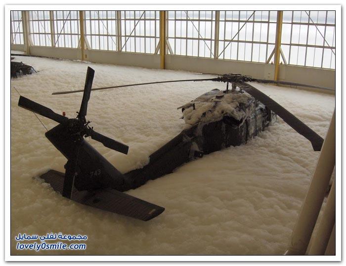 نظام إخماد الحرائق في مقر الطائرات