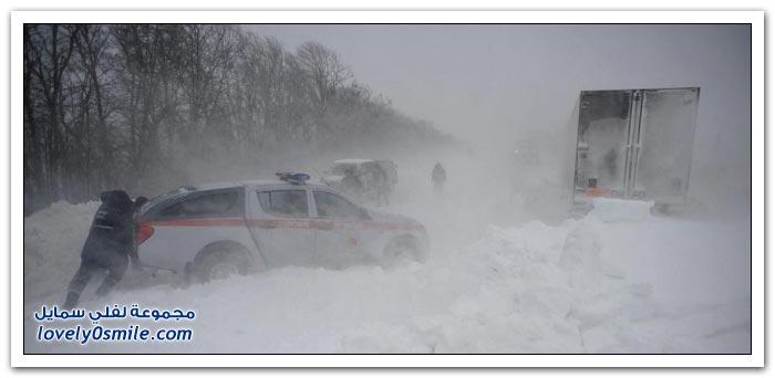 الصقيع يعصف بأوكرانيا