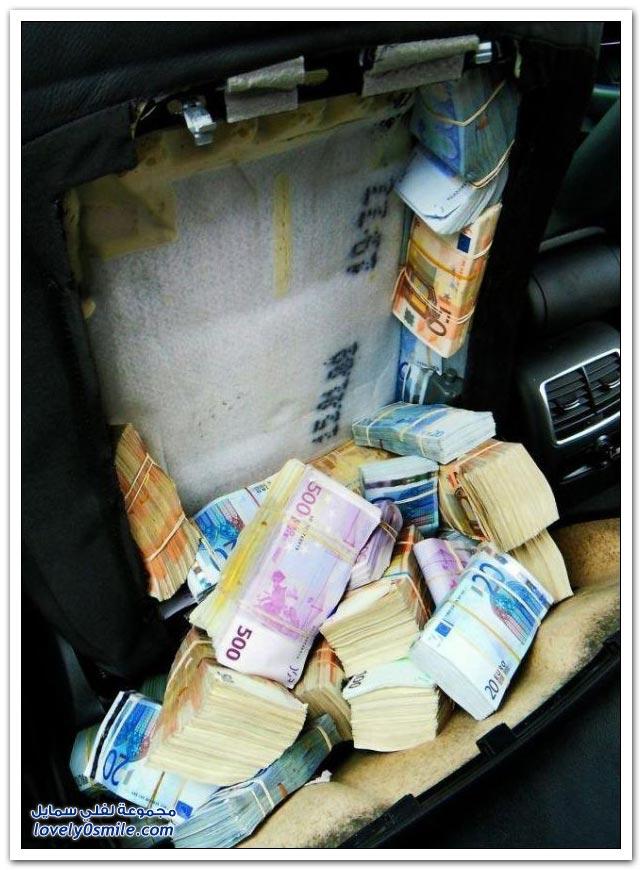 مليون و800 ألف يورو في داخل مقاعد سيارات