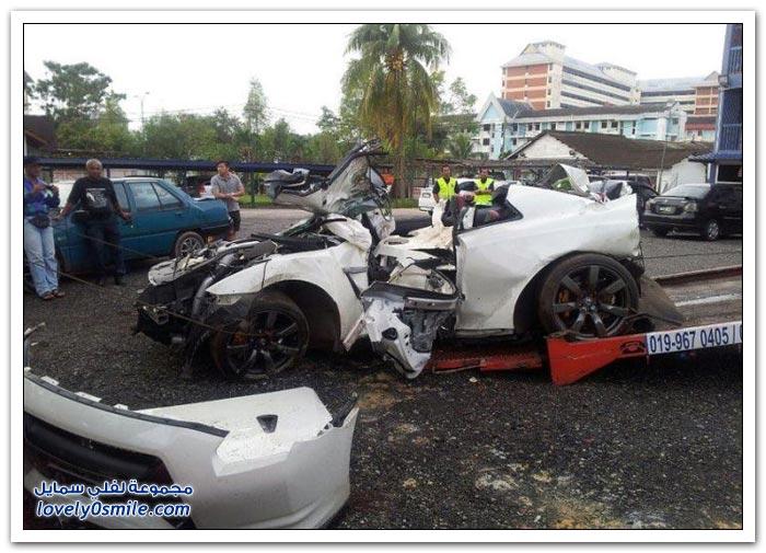 صور حوادث سيارات غالية الثمن