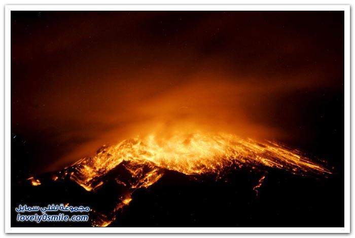 بركان تونغوراهوا في الإكوادور