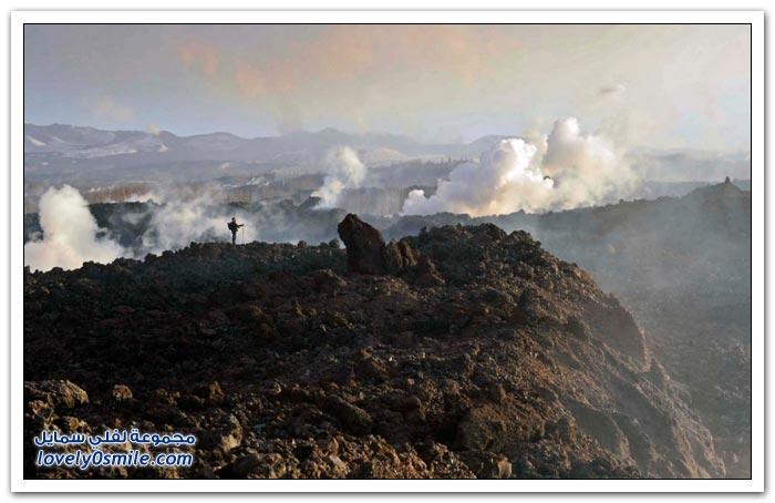 النشاط البركاني حول العالم في عام 2012