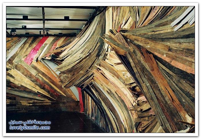 منحوتات خشبية بلمسة فنية