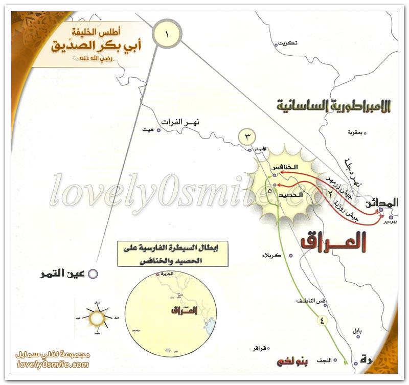 فتح دومة الجندل + إبطال السيطرة الفارسية على الحصيد والخنافس + فتح حصيد والخنافس