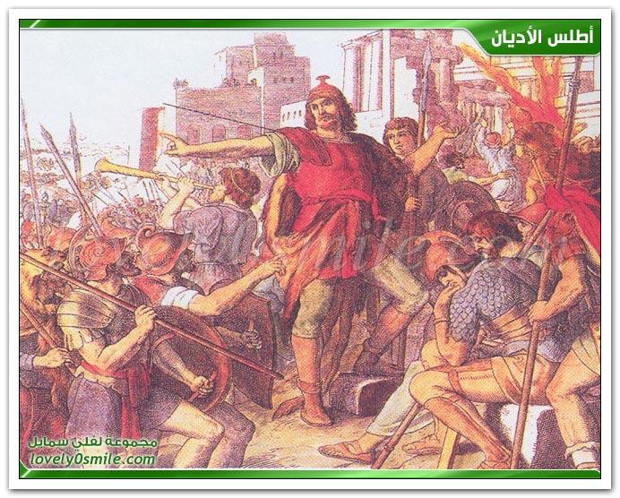 أرض كنعان تحت سيطرة المكابيين اليهود + الإمبراطورية الرومانية في مراحلها الثلاث