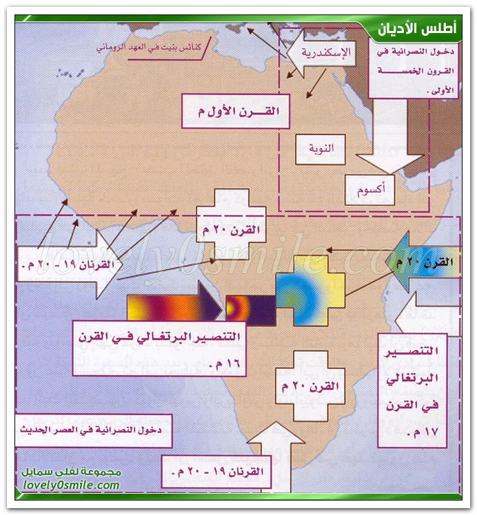 دخول النصرانية إلى مصر وإفريقيا