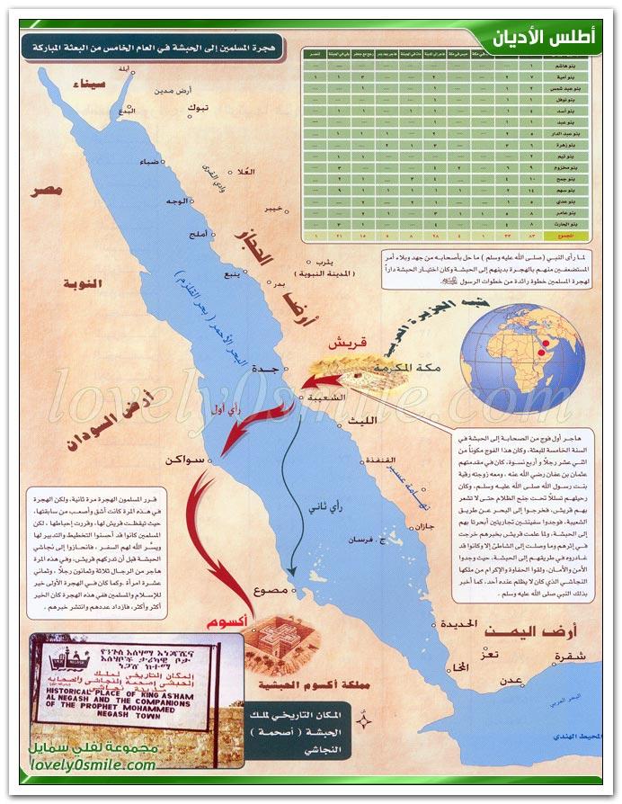 هجرة المسلمين إلى الحبشة + خروج الرسول عليه السلام إلى الطائف + الإسراء والمعراج