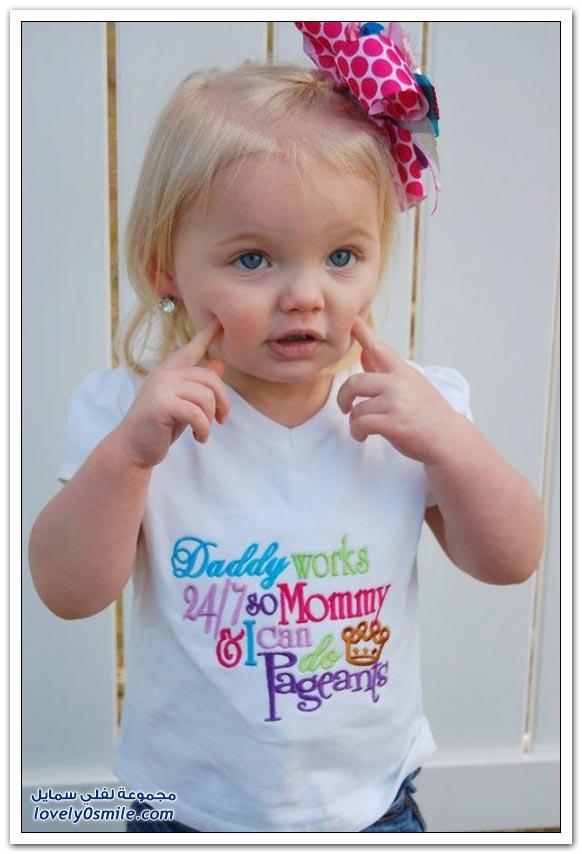 طفلة تعتبر علامة تجارية لكثير من ملابس الأطفال