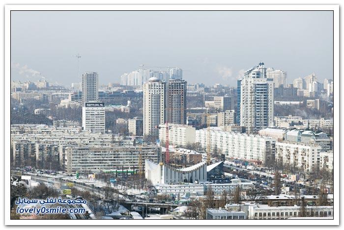 مدينة كييف في فصل الشتاء