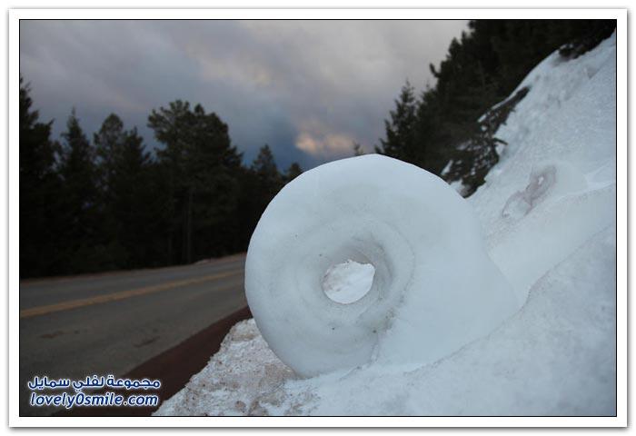 الثلوج الدوارة ظاهرة جوية غريبة
