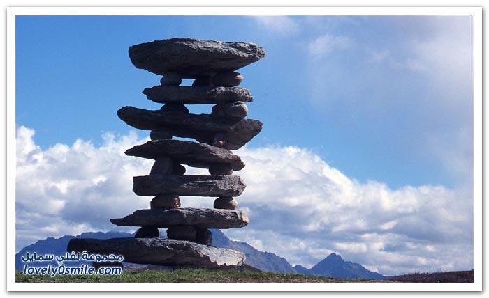 أشكال جمالية مصنوعة من الحجر