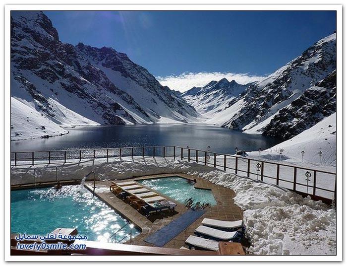 أحاوض سباحة رائعة وسط الثلوج