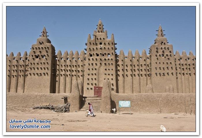أكبر مبنى من الطوب في العالم مسجد جينيه الكبير