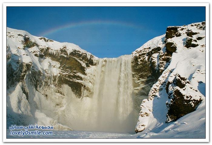 صور الشلال الأكثر شهرة في أيسلندا