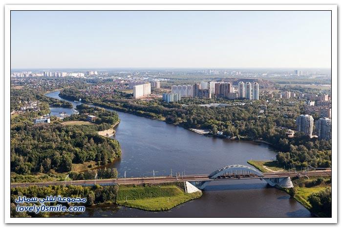 جولة فوق مدينة موسكو