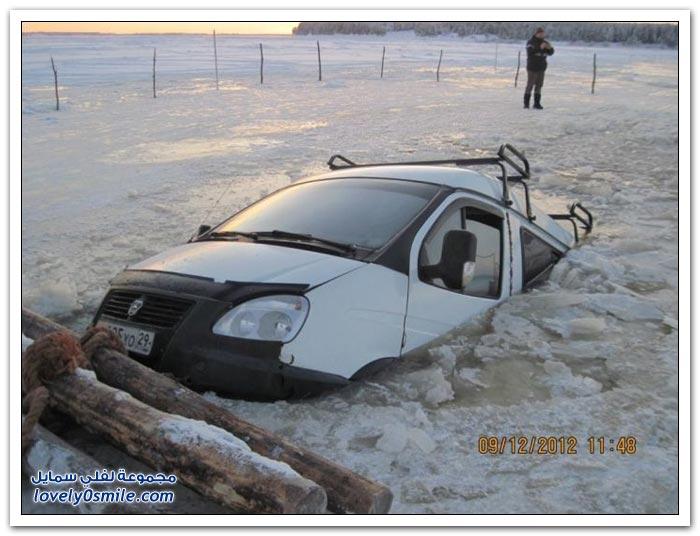 تجمد المياه في روسيا