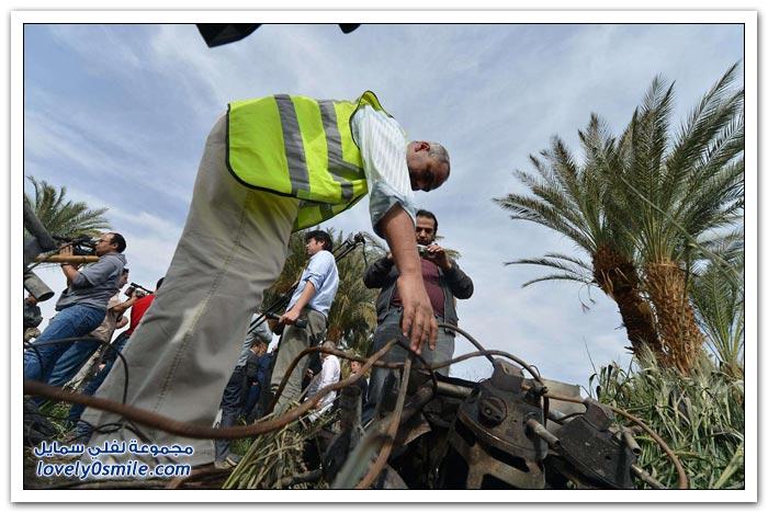 صور وفيديو: حادثة انفجار وسقوط المنطاد المصري