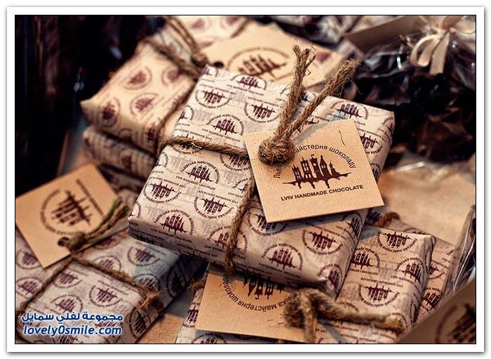 لمسات فنية رائعة في صناعة الشوكولاته