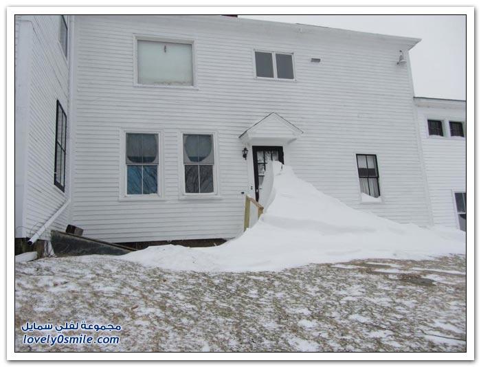 تساقط الثلوج على الولايات الشمالية الشرقية في أمريكا