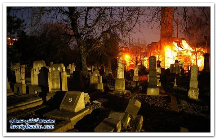 الحياة بين القبور