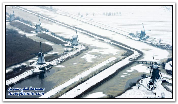 هولندا تحت الثلوج