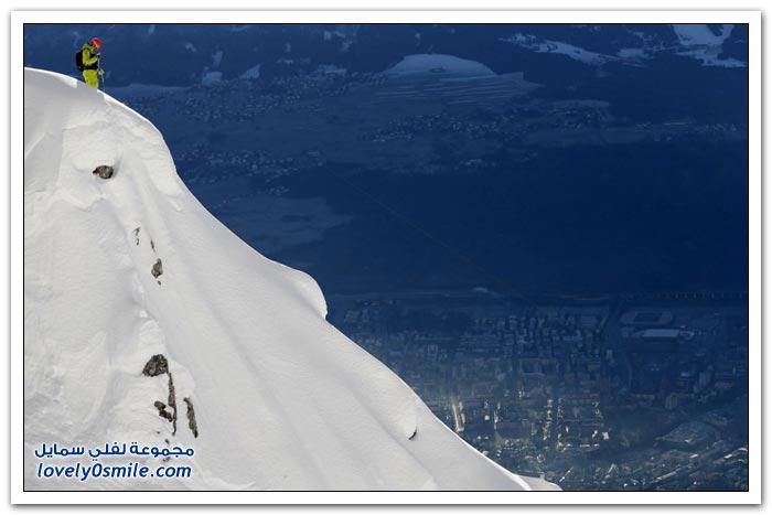 التزلج من أعلى جبال الألب