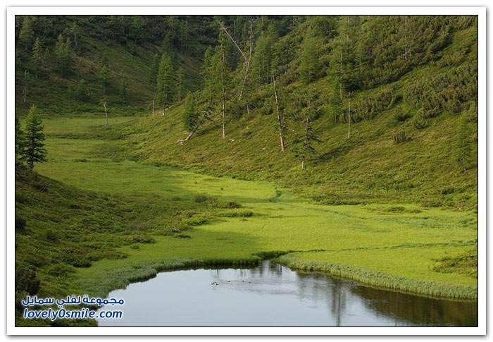 أكبر بحيرة للمياه العذبة في كامتشاتكا في روسيا