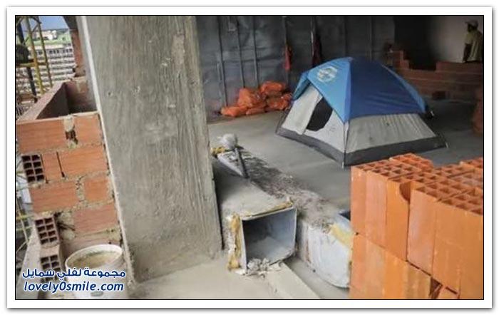 ألاف من المشردين يعيشون في ناطحة سحاب مهجورة في كراكاس , فنزويلا