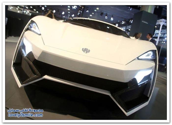 أول سيارة عربية رياضية فاخرة Lykan Hypersport