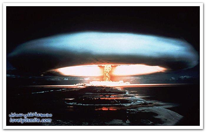 صور لتجارب التفجيرات النووية