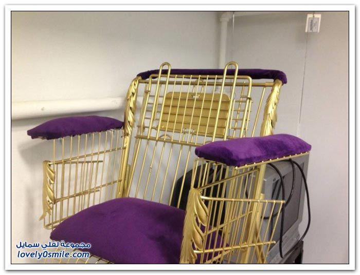 عربية التسوق يتم تحويلها لكرسي متحرك