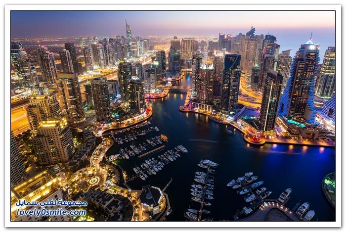 جولة جوية رائعة على مدينة دبي