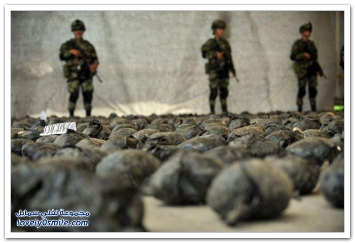 الجيش الكولومبي يداهم مخبئ للكوكايين في كولومبيا