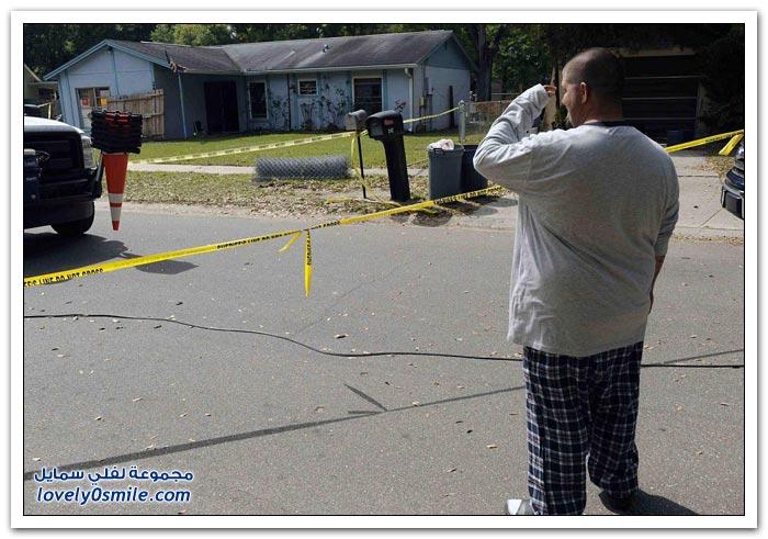 صور: الأرض تبتلع رجلاً في فلوريدا