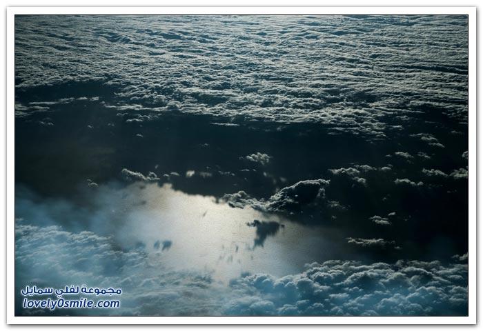 مناظر رائعة فوق الغيوم