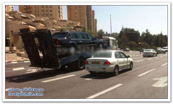 تعطل (الوحش) سيارة الرئيس أوباما في فلسطين المحتلة
