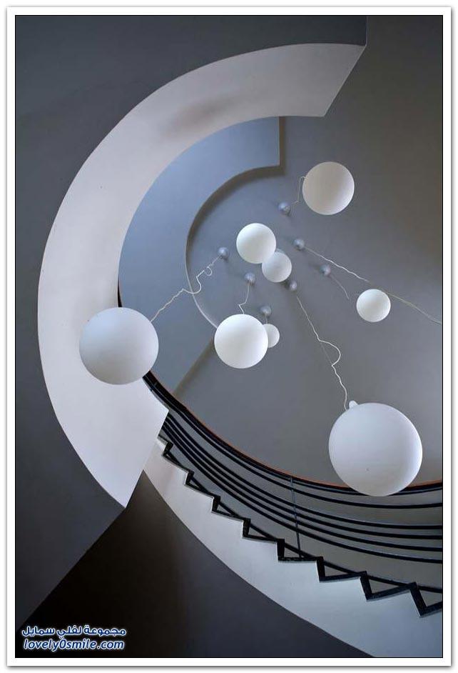 جمال السلالم الحلزونية