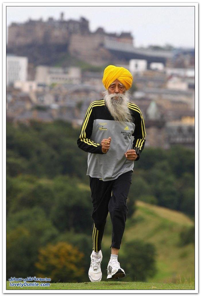 أكبر مُسن في العالم يشارك في ماراثون