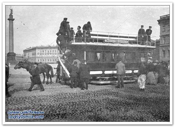 النقل في سان بطرسبرج في بدايات القرن العشرين