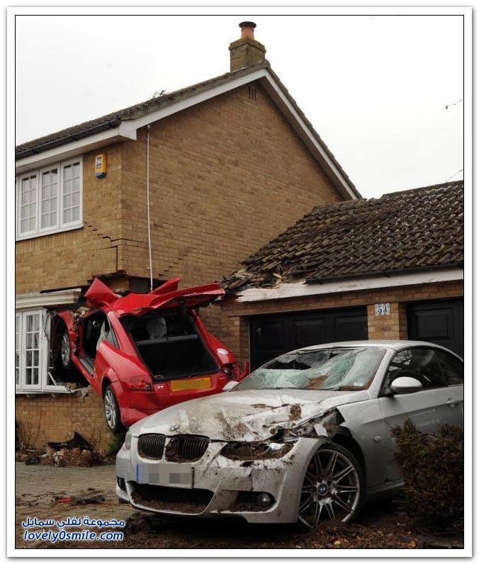 حادث أودي نتيجة السرعة في بريطانيا