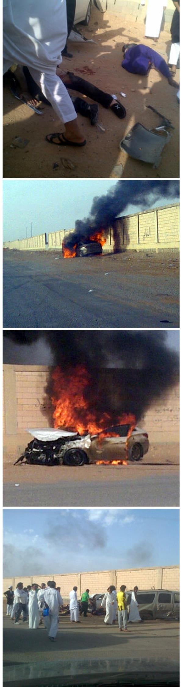 فيديو: مفحط ينجو من حادث ويحرق السيارة ويهرب + سرقة شاحنة محملة بالفيمتو