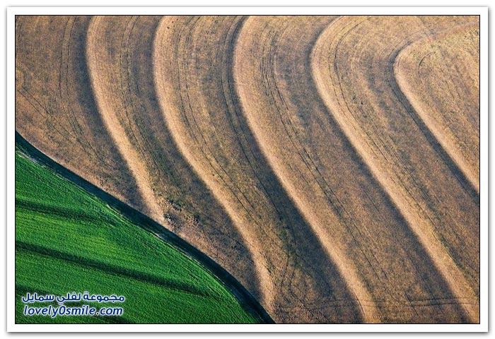 أراضي زراعية مصورة من الجو بواسطة اليكس ماكلين
