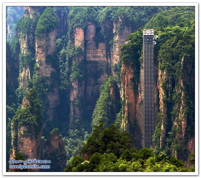 صور وفيديو: أطول مصعد خارجي في العالم