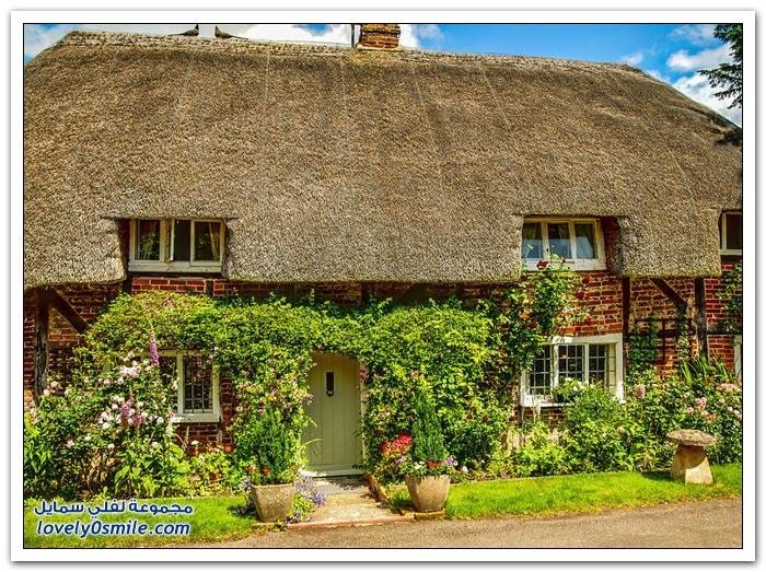 منازل ذات أشكال خاصة في مقاطعة هامبشاير في إنجلترا