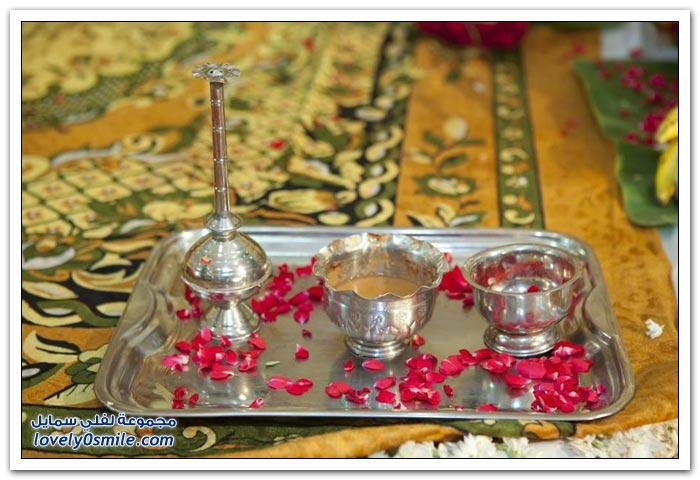 جزء من طقوس الزفاف الهندي
