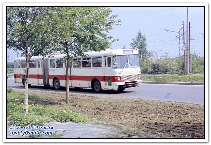 حافلات النقل العام أيام الاشتراكية في موسكو