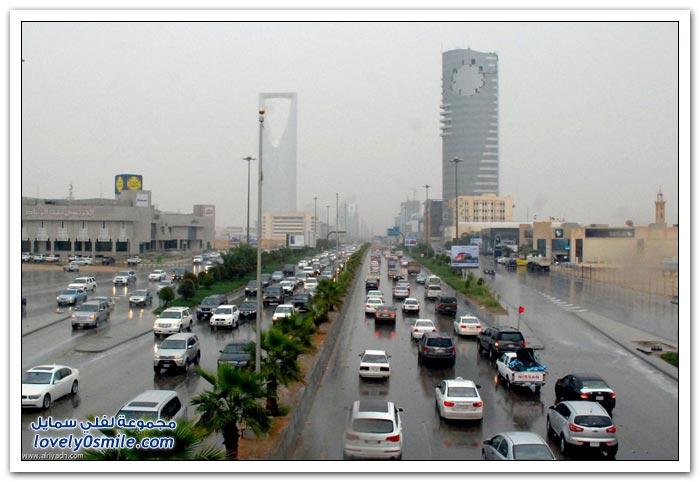 الأمطار تروي بعض مدن المملكة